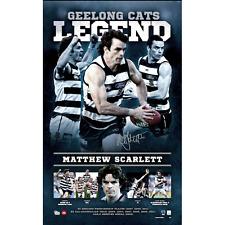 Geelong Cats Matthew Scarlett Legend Lithograph Limited Edition AFL Selwood