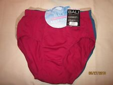 new BALI 3 pr. BRIEF panties COOL DRI FABRIC seamless NYLON multicolor comfy 6/7