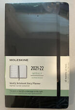 Moleskine Black Weekly 2021 2022 Planner Notebook Diary 18 Month 5x825 New