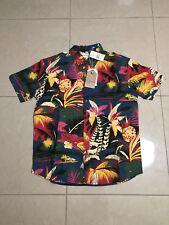 Evolution Floral Navy Modern Shirt Size Large