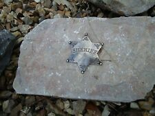 Sheriff Badge Silver 6 Point Ball Star Metal / Country & western Marshal Cow Boy