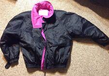 Skea Paris Vail Womens Hot Pink Checkered Black Insulated Ski Jacket, Size 10
