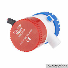 "NEW 25D 500 GPH 12V 2.0A Submersible Marine Boat Electric Bilge Pump 3/4"" Outlet"