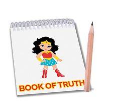 Wonder Woman anotador y lápiz (paquete de 6) Relleno Bolsa Fiesta Niños Chicos Chicas
