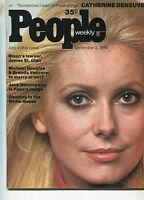 PEOPLE MAGAZINE Sept 2,1974 Catherine Deneuve Michael Douglas