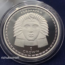 [1997 GIB Crown]1x Gibraltar 1 Crown Silver Proof Coin Cleopatra-UNC