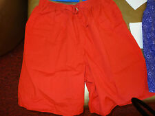 BLAIR Red Shorts (w/ decorative Front Buckle & 2 side pockets) Size L