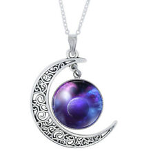 Fashion Crescent Half Moon Astrological Pendant Wishbone Womens Beauty Necklace