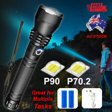 XHP90 /XHP70.2 Most Powerful 120000LM Tactical 3 Mode Zoom Flashlight LED Torch