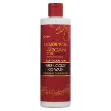 [CREME OF NATURE] ARGAN OIL PURE-LICIOUS CO-WASH CLEANSING CONDITIONER 12OZ