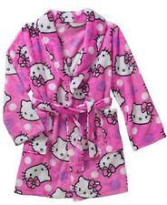 NWT AUTHENTIC HELLO KITTY BRAND GIRLS ROBE PINK SUPER CUTE AND COMFY Small 6/6x