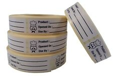 More details for use by food labels,storage labels,catering stickers 500 on a roll 65mm x 18mm