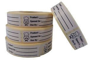 Use By Food Labels,Storage Labels,Catering Stickers 500 On A Roll 65mm x 18mm