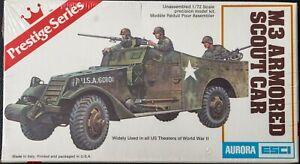 Vintage sealed Esci/Aurora 1:72 scale M3 Armored Scout Car plastic model kit