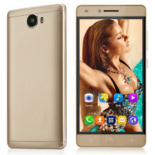 """Cheap Unlocked 5"""" Android 6.0 Mobile Smart Phone Quad Core Dual SIM WiFi GPS 3g Gold"""