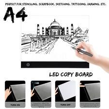A4 Stepless LED Drawing Copy Board Table Stencil Tracing Light Box Tattoo Pad