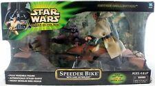 "Star Wars 12"" Power of the Jedi Speeder Bike with Luke Skywalker"