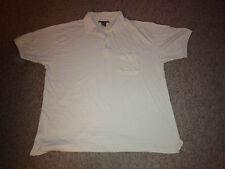 George Forman Polo Shirt White Adult Size 2XL/Big (A)
