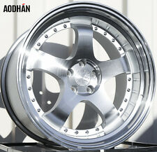 AODHAN AH03 18x10.5 5x100 +35 Silver (PAIR) fitments to work on most cars!