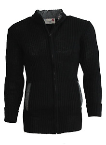 100% British Wool cardigan with Harris Tweed zip fastening and 2 pkts#13052