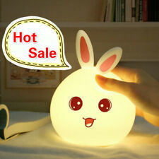 LED Cute Rabbit Night Lamp for Children Baby Gift Bedroom Living Room