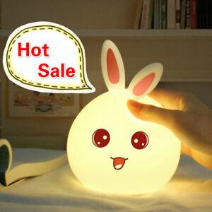 LED Cute Rabbit Night Lamp for Children Baby Gift Bedroom Living Room
