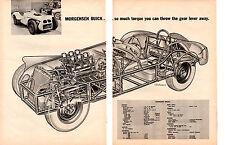 1957 MORGENSEN BUICK ~  NICE ORIGINAL 2-PAGE CUT-A-WAY