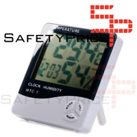 Termometro Higrometro Reloj Digital Interior temperatura humedad HTC-1 LCD Hora