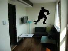 "Vinyl Wall Decal Sticker Hockey Player 60""x57"" 5ft tall"