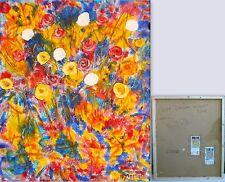 DIPINTI QUADRI QUADRO EMOTIONAL FLOWERS 1095 Olio Archivia+Autentica medippolito
