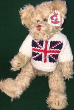 "TY Attic Treasure ""JACK"" the UK TEDDY BEAR #6989 TAN Tag Large 13"" MWMT PLUSH"