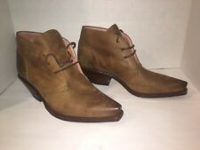 Sendra Woman's Boots Brown Tan Soft Leather Ankle Boots Size 9