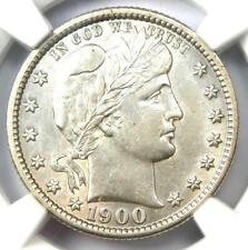 1900-S Barber Quarter 25C Coin - Certified NGC AU53 - Rare Date Coin!