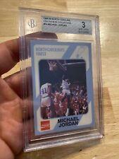 Michael Jordan BGS 3 North Carolina Collegiate Collection Man Cave #14 COLA 1989