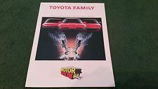 Comme neuf 1988 TOYOTA UK Motor Show Multi Valve brochure Celica Supra MR2 Corolla GTi