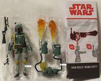 """Star Wars ESB Force Link LOOSE 3.75"""" Figure *BOBA FETT* with Jet Pack NO HAN tlj"""