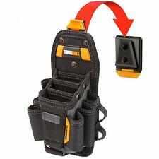 TOUGHBUILT 15 Compartment Technician Tool Bag Pouch Storage Organizer Belt Clip