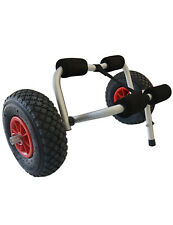 Kayak Trolley - Pneumatic Tyres for Uneven or Soft Ground -36kg Capacity - Riber
