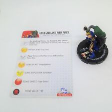 Heroclix Crisis set Trickster and Pied Piper #027 Uncommon figure w/card!