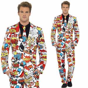 Comic Strip Standout Suit Comic Funky Formal Fancy Dress Cartoon