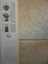 "PSYCHEDELIC FURS - MIDNIGHT 1986 TOUR DATES, B&W N.M.E. ADVERT PICTURE 15"" X 4"""