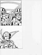 Red Tornado Unpublished Panel Original Art by Steven Butler & Al Milgrom