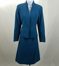Sheridan Square Teal A-line Skirt Suit Size 12