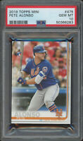 2019 Topps Mini PETE ALONSO PSA 10 GEM MINT RC #475 NEW YORK METS 50366283