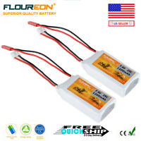 2X Floureon 2S 7.4V 1200mAh 25C LiPo Battery JST-XH JST for RC Truck Helicopter