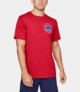 Under Armour Chicago Cubs Men's MLB UA Wordmark Core Shirt NWT Medium M