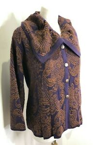 BNWT Marks & Spencer Per Una pattern textured knit button front cardigan 18 NEW