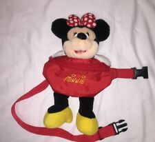 Vintage Minnie Mouse Waist Fanny Pack Purse Kids Plush Minnie Mouse Body