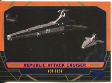 Star Wars Galactic Files Blue Parallel #266 Republic Attack Cruiser