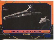 Star Wars Galactic Files Blue Parallel #266 Republic Attack Cruiser